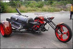 STRANGE MOTORCYCLE BAR-B-QUE - MOBILE MEAT SMOKER!