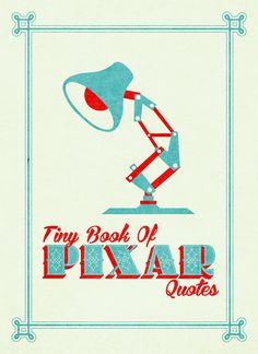 Pixar Typography Book