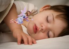 Insert tooth fairy onto picture of your child sleeping!