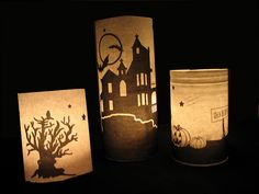 holiday, halloween decorations, silhouette projects, pottery barn inspired, halloween crafts