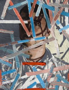 """Jason Pearce Willome """"Uncomfortable with Fiction,"""" Acrylic, rayon flocking, archival pigment transfer, stretched canvas"""