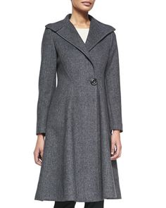 One-Button+Knit+A-Line+Coat++by+Vera+Wang+Outerwear+at+Neiman+Marcus.