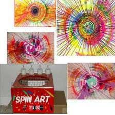 Spin Art. I used to love to make spin-art at the county fair in the early 1970s.