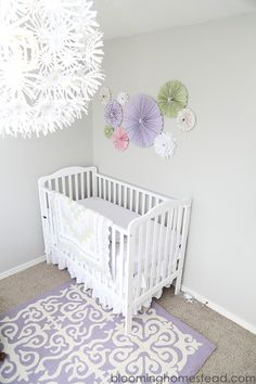 DIY Girl Nursery inspiration using soft feminine colors!