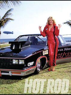 Linda Vaughn/ This is Warren Johnson's pro stock cutlass