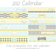 2012 Calendar Free Printable