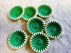 vintage green buttons