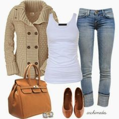 Stylish Fall Winter Outfit With Sweater
