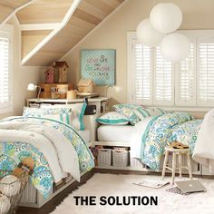 Ask Deb Nelson: Small, shared bedroom | The Chronicle Herald decor, idea, color, kid rooms, girl bedrooms, twin beds, shared bedrooms, twins, girl rooms