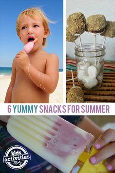 6 {Yummy} Homemade Snacks for Summer - http://kidsactivitiesblog.com/46077/snacks-for-summer