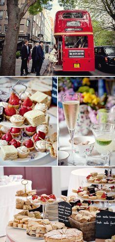 london tea party wedding  I love the idea of a high tea reception!