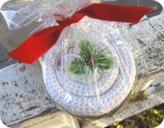 christma tea, towel cakes, tea towels, teas, craft idea, craft projects, merri christma, gift idea, crafts