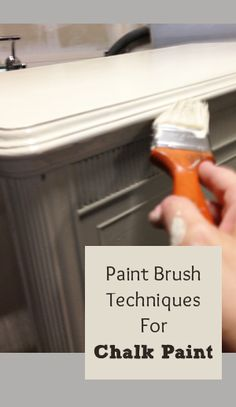 Techniques for using chalk paint with a paint brush