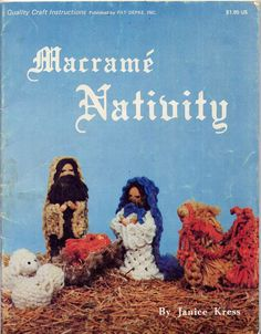 Vintage 1970s Macrame Nativity Christmas Craft Book