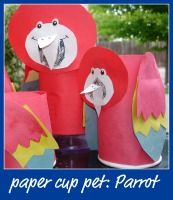 parrot craft perfect for a pirate party or Luau other great summer crafts too!!