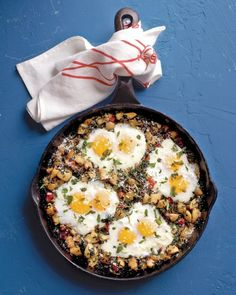 One-Pot Breakfast (or dinner!): Potato Hash with Spinach and Eggs