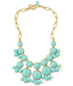 Tiffany Blue bib necklace