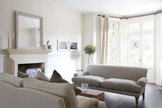 A London Home Full of Light// shades of grey, grey sofa #Home #Classic
