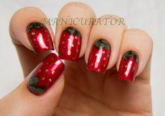 Strawberry nail art with Zoya - Lazy Days of Summer Challenge @Zoya Nail Polish