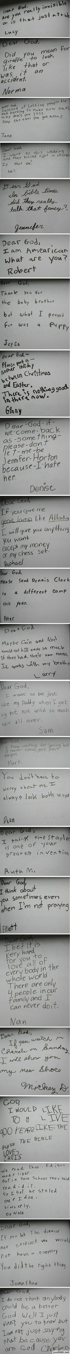 23 Funny Children's Letters To God