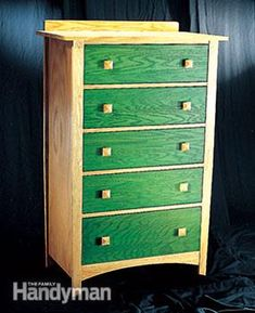 Creative staining: Learn how to stain and finish unfinished furniture. With the techniques shown here you can make even wild color combinations look professionally done.