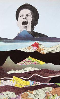 """Saatchi Online Artist: Erwan Soyer; Decoupage, 2011, Assemblage / Collage """"Écho"""""""