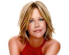 short blonde hair with bangs -