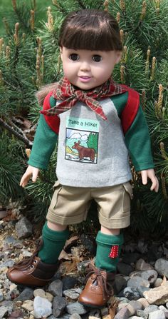 American Girl/18 Inch Doll Clothing - Take a Hike Outfit and Backpack via Etsy