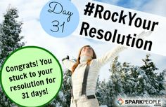 A BIG congrats to all of you who have been participating in our #RockYourResolution challenge. Today is the LAST DAY, so go ahead and tell us what you've accomplished! If you want to keep going, it doesn't stop here! Get more motivation to reach your goals with our #2Fit2Quit challenge, starting first thing tomorrow. Who's in?? http://www.sparkpeople.com/blog/blog.asp?post=jump_start_your_motivation_with_our_february_challenge | via @SparkPeople #fitness #health #resolutions #newyears #goals