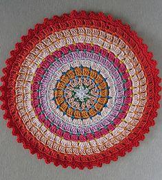 free crochet pattern colorful doily