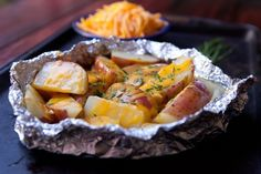 Recipe: Cheesy Grilled Potato Packets