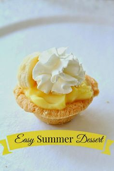 Easy sugar cookie cup summer dessert.