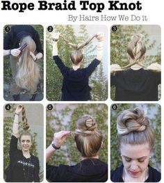 Rope Braid Top Knot