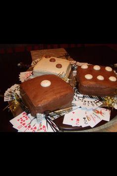 Casino party cake