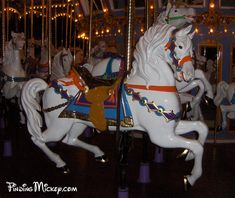 Walt Disney's Wife's favorite horse on King Arthur's Carousel at Disneyland.