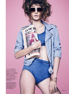 blue state: caterina ravaglia by bruno staub for us elle may 2013   visual optimism; fashion editorials, shows, campaigns & more!