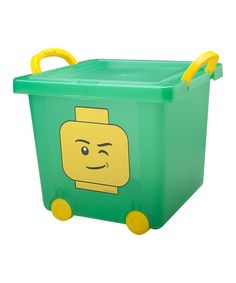 This Green LEGO Stacking Bin by LEGO is perfect! #zulilyfinds