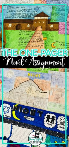 Assigning a one-pager literary project is a great alternative to the essay, especially at the end of the school year. Here is how I assign a one-pager in my high school English classroom. #secondaryELA #middleschoolELA #highschoolELA #onepager