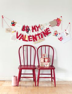 I love how much is going on in this Valentine Banner. Just might have to make one for the next Vday Dinner Party