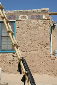 An adobe house in Sky City- home of the Acoma Indians adob hous