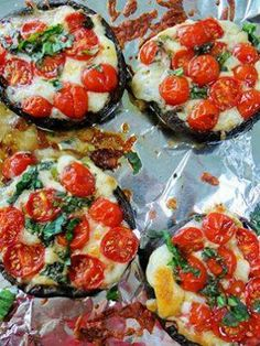 Caprese-style portobello mushrooms
