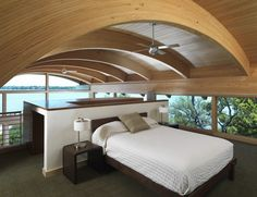 Curved Roof Bedroom Interior
