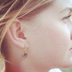 Pretty earrings with amethyst stones.