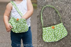 DIY Little Girl Pleated Purse...with button closure