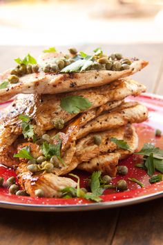 healthy chicken breast recipes, chicken recipes, chicken breasts, chicken escalop, delici healthi, delicious healthy recipes, capers recipe, baked chicken breast recipes, healthi recip