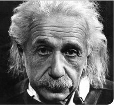"Albert Einstein. The ""m"" in E=mc² stands for ""mustache."" #mustache"