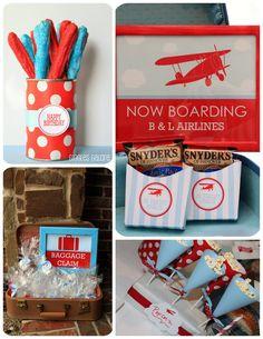 pretzel, airplanes, birthday parties, airplan birthday, aviat birthday, aqua, airplan parti, airplane party, birthday ideas