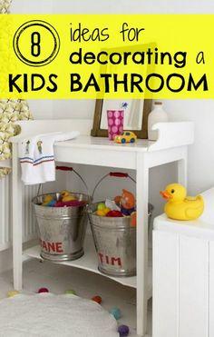 8 Ideas for Decorating a Kids Bathroom - Tipsaholic.com #kids #bathroom