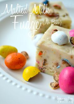 {No-Bake} Malted Milk Fudge