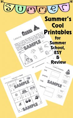 Printables for K, 1st, 2nd and Special Education  (Summer Lesson Plans)  Included in this packet are printables for the Summer's Cool Unit for Kindergarten, 1st or 2nd Grades.  Each theme has a main page with a narrative about the topic and six printable activities. (Total Pages =34)  Featured Themes:  Camping -Aquarium -Beach -Fireworks